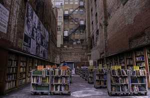 Brattle Book Shop's outdoor sale lot